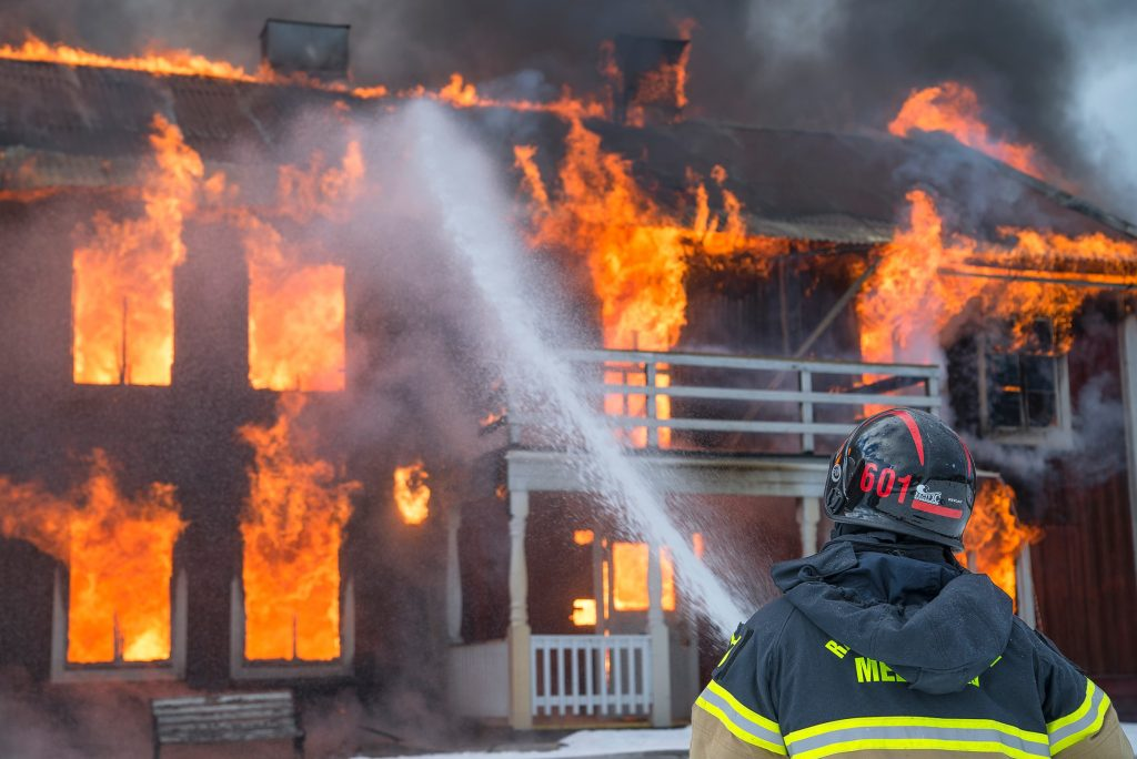 Fire Burn In Northern California